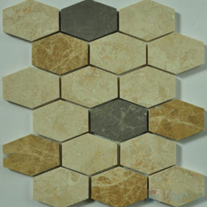 Polished Long Hexagon Stone Tile for Floor