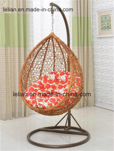 Outdoor Black Rattan/Wicker Swing Hanging Chair in Patio Furniture pictures & photos
