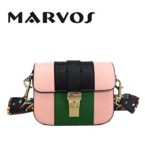 Colorful Strap Satchel Leather Handbag / Mini Leather Handbag (BS1607-61)