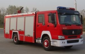 10T Fire Fighting Truck with Foam Sinotruck (QDZ5190GXFPM80R) pictures & photos