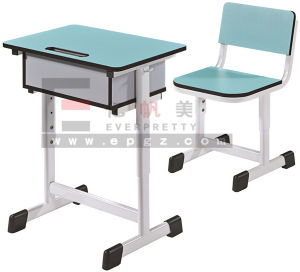 Hot Sale School Furniture School Wooden Double Desk and Chair pictures & photos