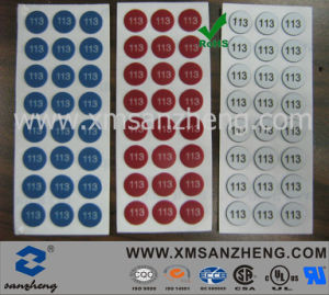Customized PC Number Adhesive Label Sticker (SZXY167) pictures & photos