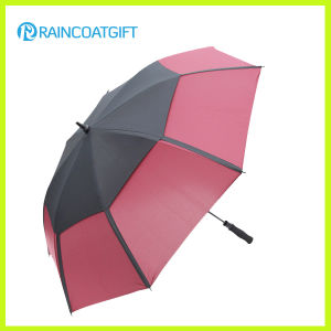 30inch Double Canopy Windproof Straight Golf Umbrella pictures & photos