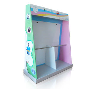 Cardboard Display Rack with Hook for Child Bib Hanging, Paper Display Rack, Pop Display pictures & photos