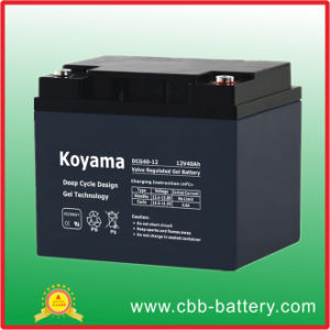 High Cycle Service Life Gel Battery 40ah 12V pictures & photos