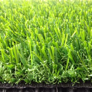 High Quality Double Color Green Artificial Turf/Grass pictures & photos