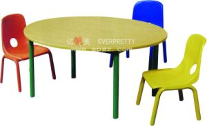 Colorful Children Furniture Kids Wooden Desk and Plastic Chairs pictures & photos