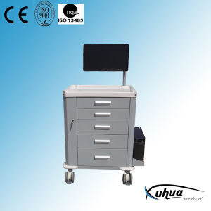 Stainless Steel Moveable Multifunctional Medication Cart/ Trolley (P-25) pictures & photos