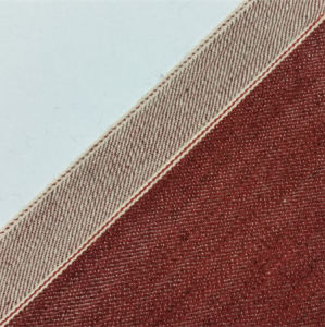 12.85oz Mercizing Cotton Red Twill Selvedge Denim Jeans Fabric 0561