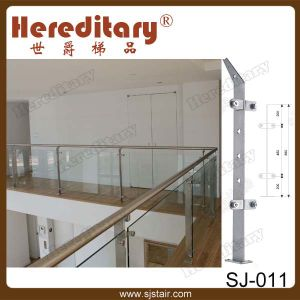 Stainless Steel Square Design Balustrade Indoor Glass Railing (SJ-S070) pictures & photos