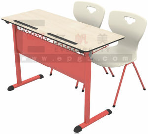Classroom Furniture Double Student Table with Chairs pictures & photos