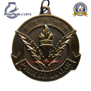 Customized Iron Die Struck Medal with Gold Finish, No MOQ. pictures & photos