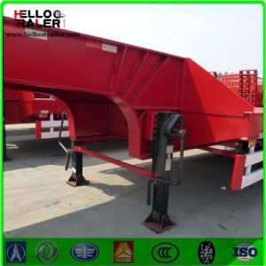 China Made 80 Ton 4 Axle Low Bed Semi Trailer pictures & photos