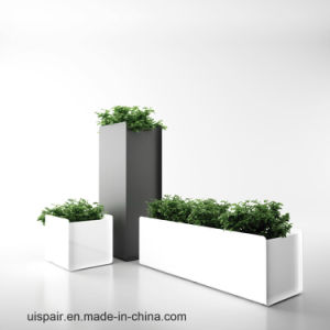 Uispair Square 100% Steel Garden Flower Planter for Modern Office Garden Decoration
