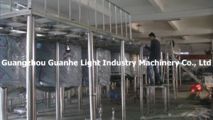 SUS304 Sanitary Storage Tanks with Platform for Liquid Detergent Production pictures & photos