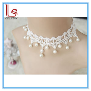 Fashion Accessories Gothic Choker Bridal Pearl White Lace Necklaces pictures & photos