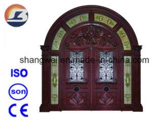 Exterior Meranti Solid Wooden Door pictures & photos