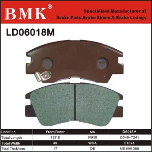 Environment Friendly Brake Pads (D6018M) pictures & photos