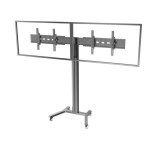 "Public TV Floor Stand Wheelbase Dual Screens 30-60"" (AVA 202B) pictures & photos"