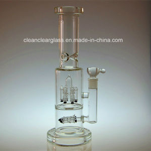 High Quality Thick Heavy Glass Smoking Pipe Water Pipe with Rocket Perc, for Wholesale
