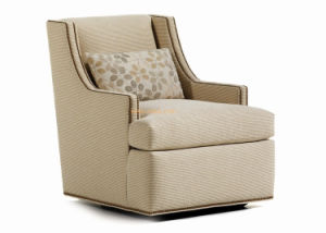 (CL-2228) Wooden Accent Fabric Sofa Chair for Hotel Home Furniture pictures & photos