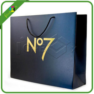 Promotional Navy Blue Paper Gift Packaging Bags pictures & photos