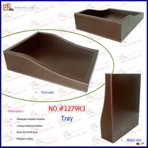 PU Leather Desktop Documents Tray (1279R3) pictures & photos