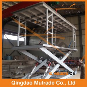 Two Floor Double Cylinder Hydraulic Car Scissor Lift pictures & photos