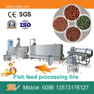 Large Capacity Twin Screw Floating Fish Feed Processing Machine pictures & photos