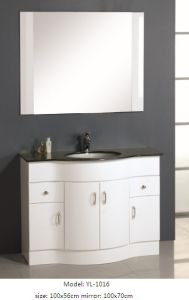 Bathroom Furniture Vanity with Glass Wash Basin pictures & photos