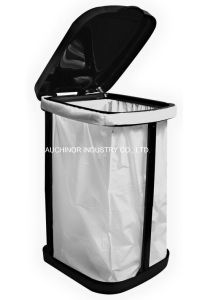 LDPE Black Heave Duty Plastic Drawstring Garbage Bag for Bin pictures & photos