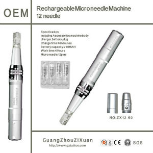 Rechargeable Microneedle Pen Machine Derma Pen (ZX12-60) pictures & photos