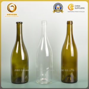 750ml Small Screw Top Glass Wine Bottle Wholesale Glass Wine Bottle Burgundy (471) pictures & photos
