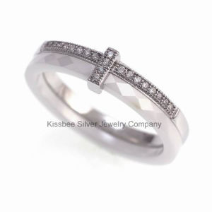 Ceramic and 925 Sterling Silver Ring Jewelry (R20034) pictures & photos