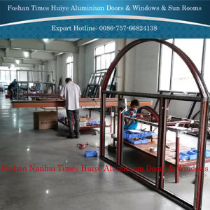 Fashion Style Aluminium Sliding Windows with Double Tempered Glass pictures & photos