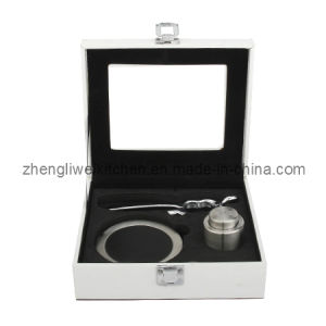 Champagne Bottle Opener Set in Leather Box (600034-B) pictures & photos