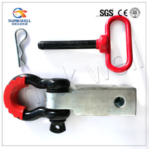 Solid Shank Shackle D Ring Receiver Hitch with Isolator Kit pictures & photos