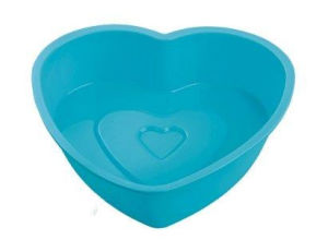 Eco- Friendly Logo Printing Heart Shape Silicone Cake Mold pictures & photos
