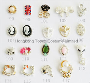 Zircon Material Crown Bow Knot Flower Fox Design 3D Nail Art Jewelry (TP-895-1467) pictures & photos