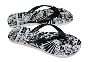 Last Fashion Rubber Colorful Printing Flip Flops pictures & photos