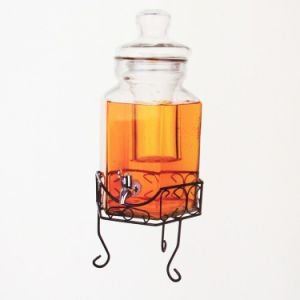 Large Glass Water Jar with Tap and Stand pictures & photos