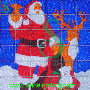 Santa Claus 2D Painting Light for Indoor christmas Decoration pictures & photos