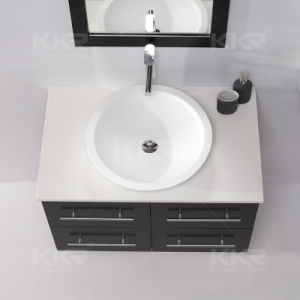 Modern Small Round Resin Bathroom Top Vanity Sink (B1708036) pictures & photos