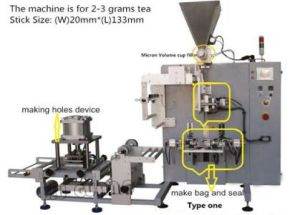 Tea Bag Packing Machine with Hole and Envelope Back Sealing pictures & photos