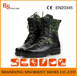 Black Action Leather Military Tactical Jungle Boots RS273 pictures & photos