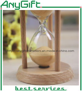 Wooden Hourglass with Customized Logo pictures & photos