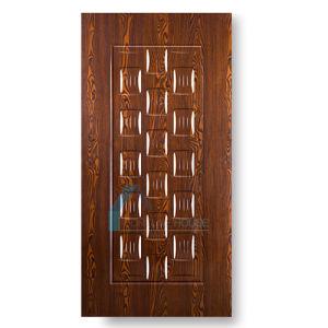 Dark Walnut/Cherry Melamine Faced Door Skin with 9 Panel 3 Panel pictures & photos