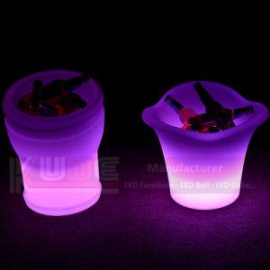 LED Illuminated Ice Bucket Tin Ice Bucket Large Cooler Ice Bucket pictures & photos