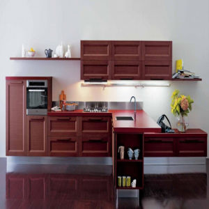 Welbom European Style Solid Wood Kitchen Furniture for Kitchen Decoration pictures & photos