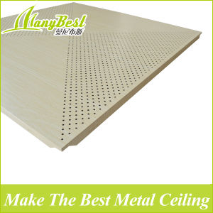 2017 Wood Color Aluminum Acoustical Ceiling Tiles pictures & photos